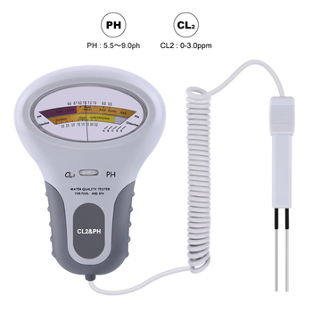 Jakość wody PH Cl2 Tester poziomu przenośny basen SPA instrumenty analityczne PH miernik chloru do akwarium tanie i dobre opinie alloet NONE CN (pochodzenie) PH Meter DIGITAL
