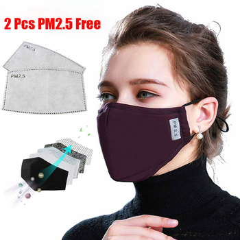 KN95 Mouth Mask PM2.5 Cotton Unisex Anti Dust Mask Activated Carbon Filter Windproof Mouth-muffle Bacteria Proof Flu Face Masks