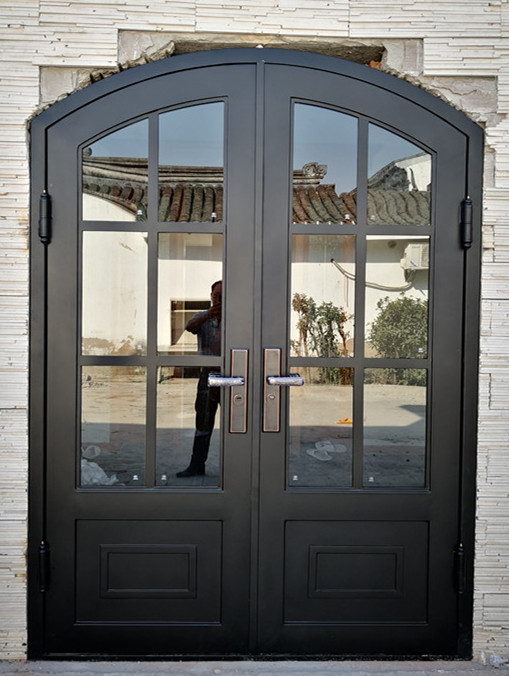 Hench Beautiful Painted Iron Single French Door Design