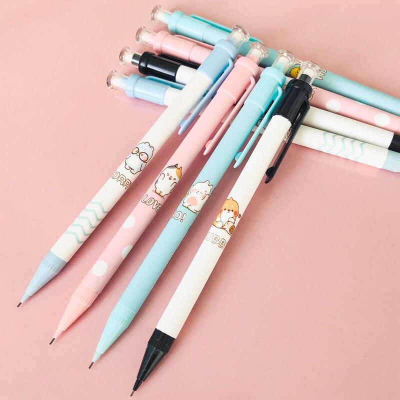 3x автоматический механический карандаш с милым маленьким кроликом и собакой, школьные принадлежности, канцелярские товары 0,7 мм