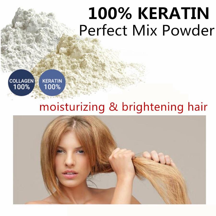 SowSmile 100% Keratin Collagen Silk Natural Moisturizing Repair Hair Scalp Care Vitamins Treatment Perfect Mix Serum Powder 1