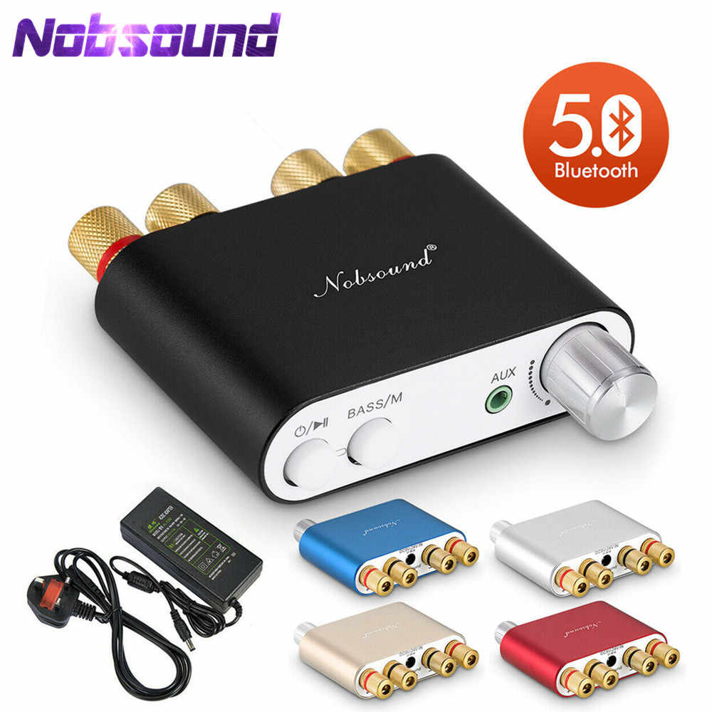 2020 Nobsound HI FI TPA3116 Mini Bluetooth 5.0 50W * 2 Digital Amplifier Stereo Rumah Mobil Audio Power Amp Audio receiver