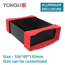 Aluminum Box Extruded DIY Electronic Project Black Housing Instrument Case Enclousre K07 106*40mm