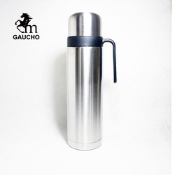 1 PC/Lot Gaucho Yerba Mate Thermos Stainless Steel Vacuum Flask Travel Bottle 1000 ML Teaware Easy To Carry Hot Sale TB002-1L