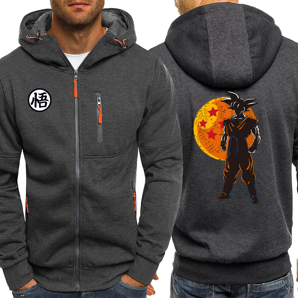 Saiyan Anime Hoodie Men New Autumn Tracksuit Dragon Ball Jackets Zipper Hoodies Sweatshirts Casual Coat Harajuku Male Streetwear