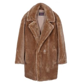 2020 fashion women's clothing Winter jackets Natural wool sheepskin Long teddy bear coat Warm and relaxed