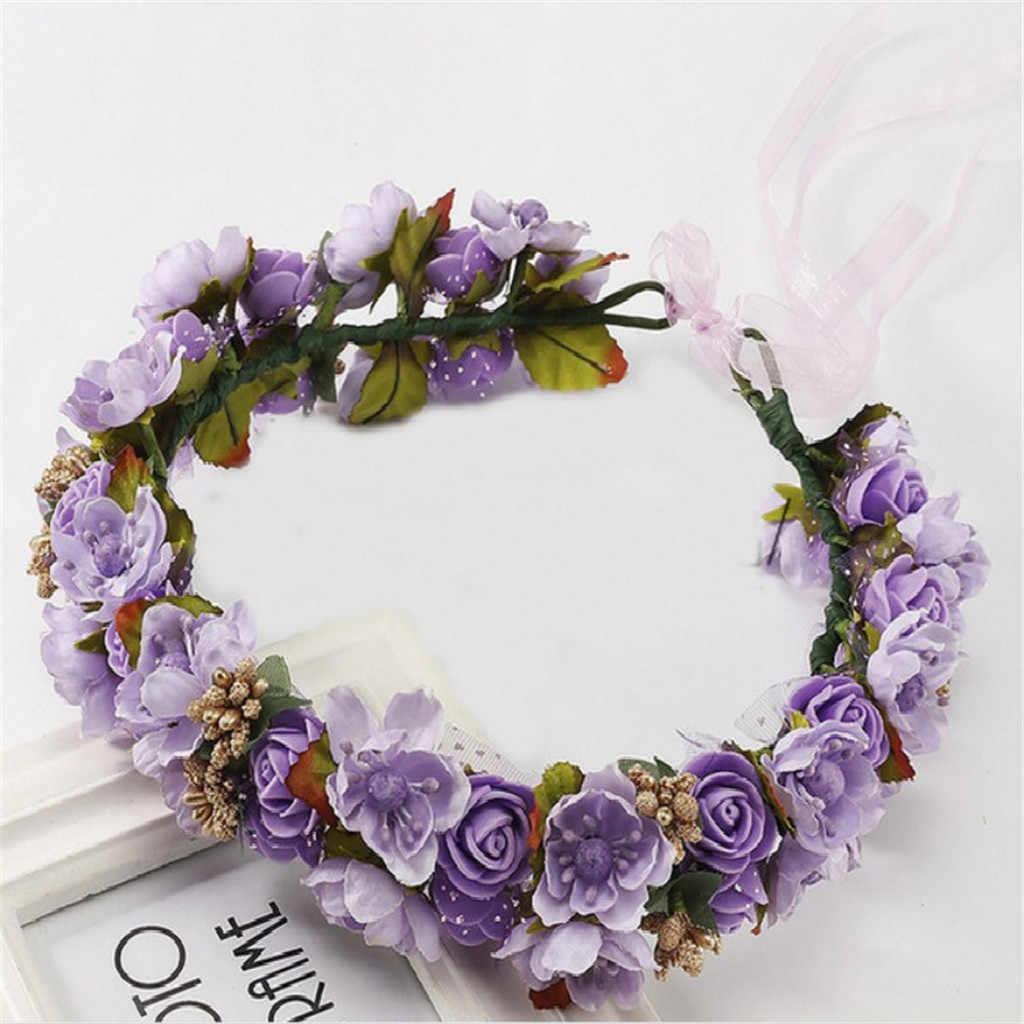Rose Anyelir Bunga Peony Halo Bridal Floral Mahkota Karangan Bunga Mint Kepala Wreath Partai Pernikahan Headpiece Bridesmaid