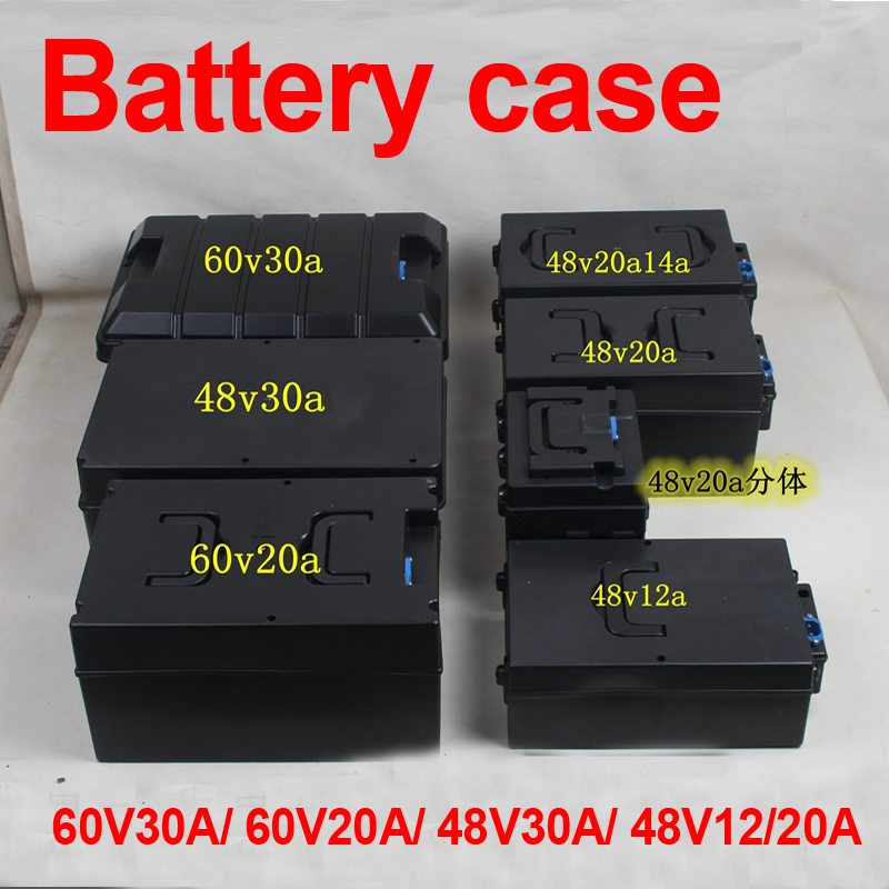 36V 48V 60V 72V 10Ah 20Ah 30Ah 48V 12Ah scooter bike battery case lifepo4 li ion LTO lead acid battery empty box battery case