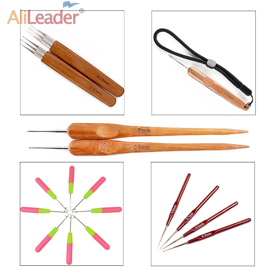 Factory Selling 1 Piece 15Cm Pink & Lemon Color Plastic Knitting Crochet Hook Needles For Jumbo Braiding Hair And Crochet Braids