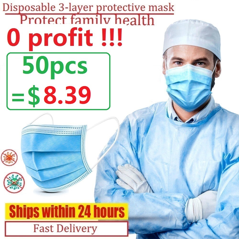 Disposable Masks Soft 3-layer Non-Woven Protective Masks Anti Dust Mouth Face Mask Factory Outlet