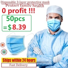 Disposable Masks Soft 3 layer Non Woven Protective Masks Anti Dust Mouth Face Mask Factory outlet