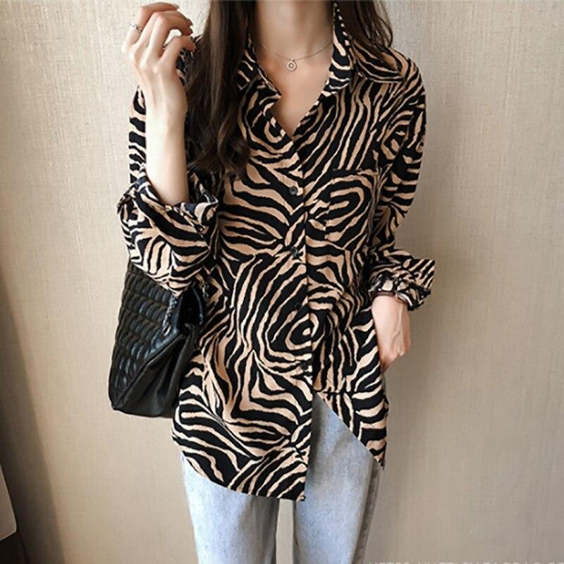 Женская шифоновая рубашка модная универсальная повседневная