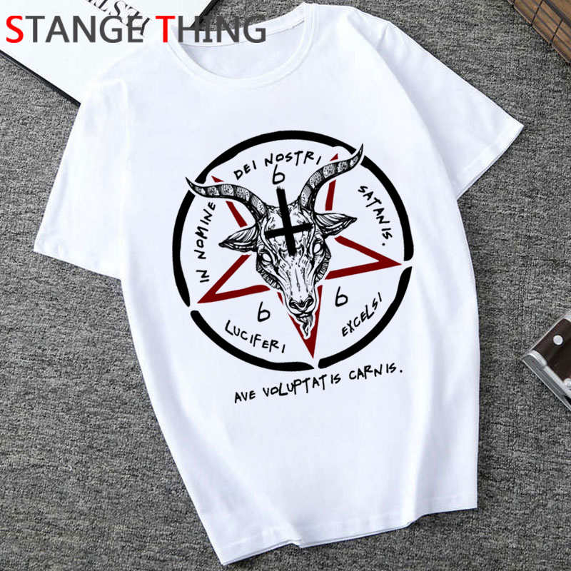 Satan Horror T Shirt Men Demon Death Scary Evil T-shirt Satanism Grim Reaper Baphomet Tshirt Satanist Unisex Hiphop Top Tee Male