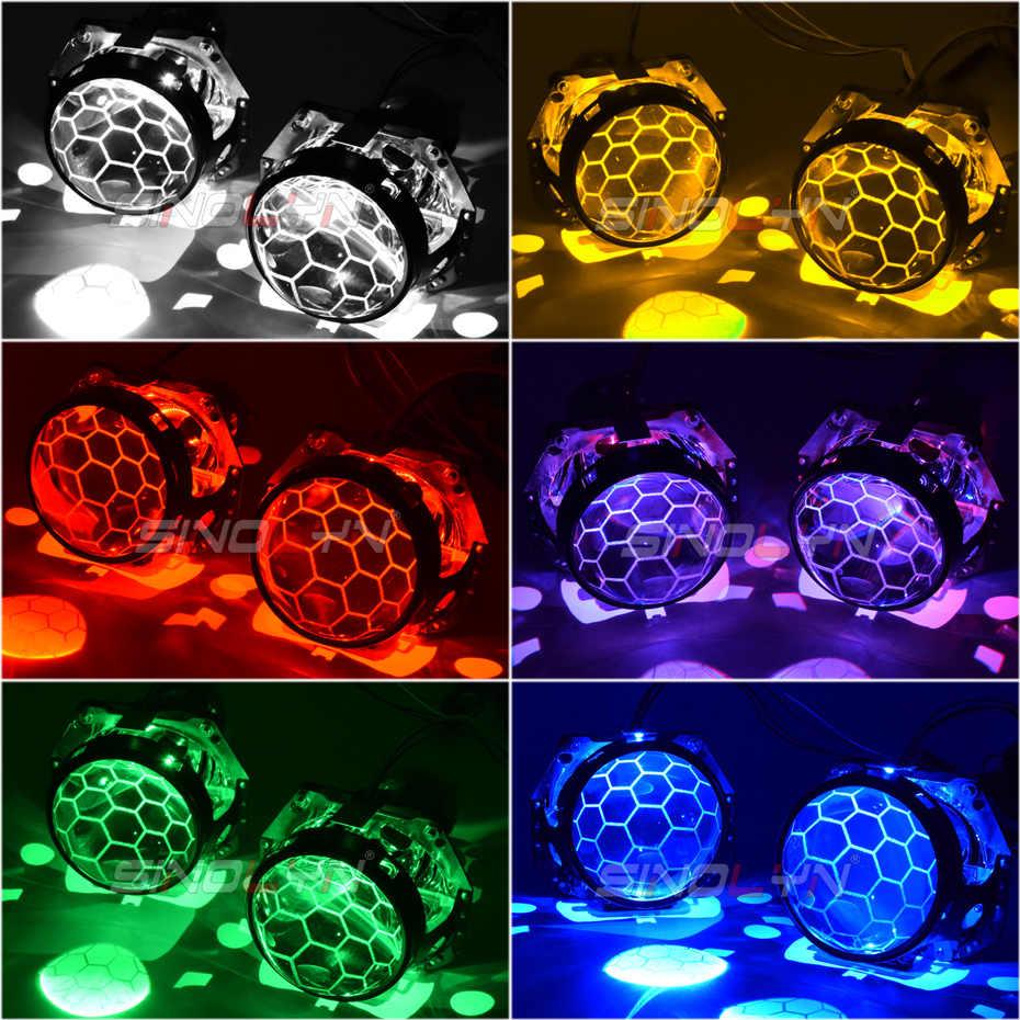 Sinolyn 3.0 Bi xénon H4 Hella 3R G5 D2S D2H projecteur nid d'abeille lentille Hella lentilles légères pour phares gravure lentille remplacement