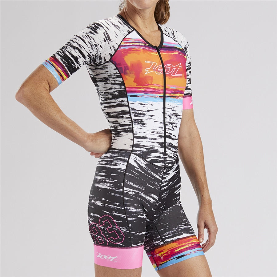 2019 ZOOT Pro Cycling Jersey Set 2019 Triathlon Suit One Piece Women Short Sleeve Skinsuit Jumpsuit Maillot Bike Bicycle Cycling