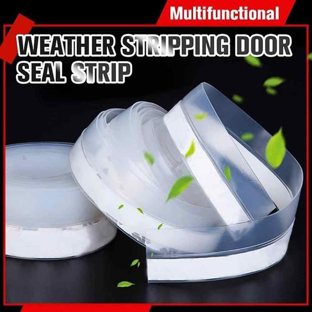 5m Door Seal Strip Bottom Self Adhesive Soundproof Weather Stripping For Window