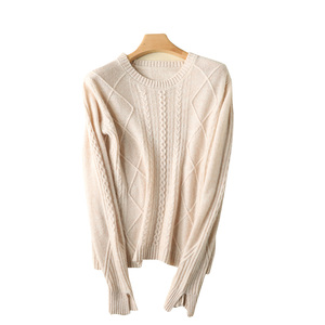 O-Neck Atmosphere Pure Colors Female Knitwear Long-Sleeved Double Thick Thickened Women Pullover Europe United States Style 2020