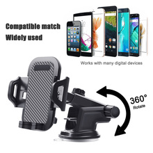 Windshield Gravity Sucker 360 Car Phone Holder For Universal Mobile Phone Fit For iPhone Samsung Smartphone Mount Stand in Car стоимость