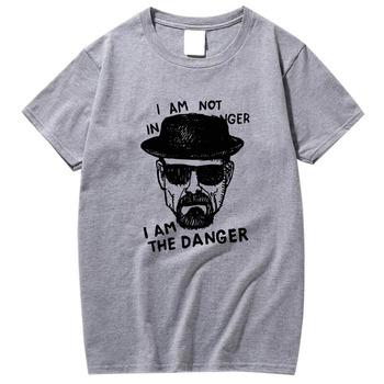 XIN YI Men Fashion Casual Top Quality short sleeve 100% cotton o neck men short sleeve heisenberg print Tshirt men tshirt tee недорого