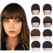 Halo Lady Beauty-flequillo romo de cabello humano peruano, Clip en piezas de cabello no Remy, flequillo de flequillo con flecos 613 Rubio