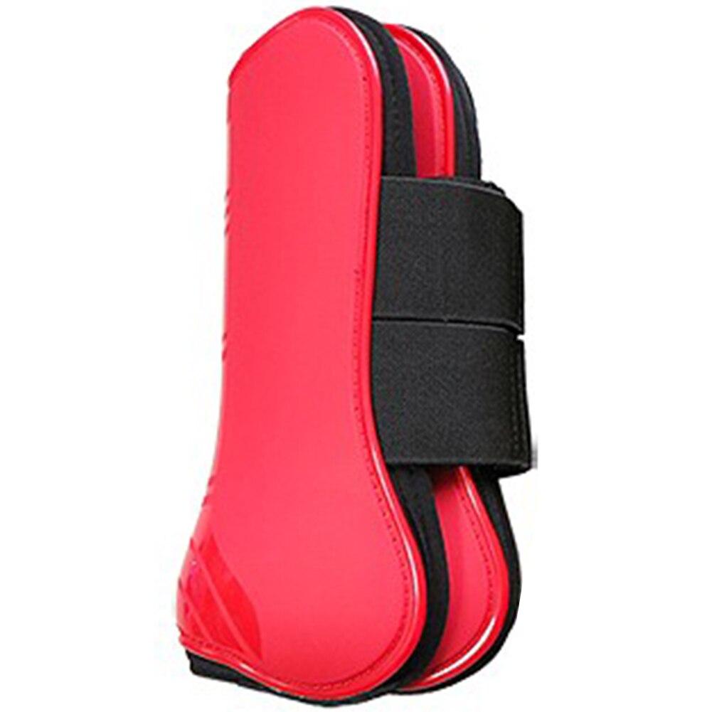 4Pcs Jumping Training Equestrian Equipment Protective Gear Leg Guard Shock Absorbing PU Shell Horse Tendon Boot Sports Outdoor