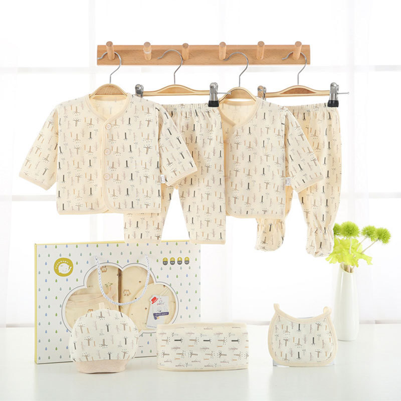 Pure Cotton Gift Box Maternal And Child Supplies Four Seasons Clothes Newborns Spring Summer Pigskin Beginning Baby Infant Expec