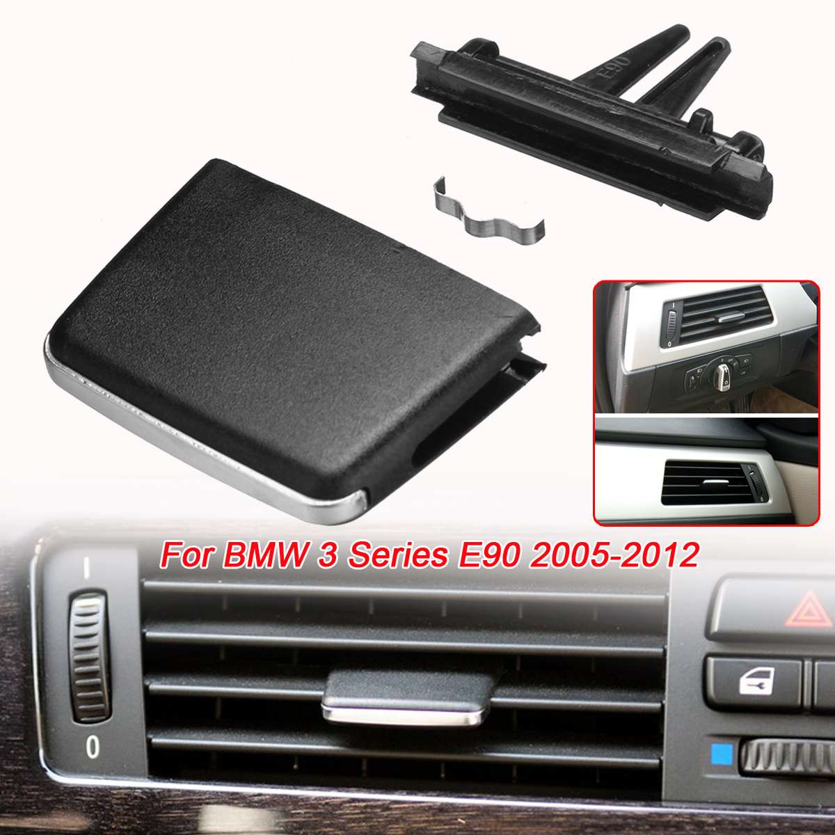 <font><b>E90</b></font> Car Front Air conditioning <font><b>Vent</b></font> Air Conditioning <font><b>Vent</b></font> Outlet Tab Clip Repair kit For <font><b>BMW</b></font> 3 Series <font><b>E90</b></font> 2005-2012 XB.YX.165 image