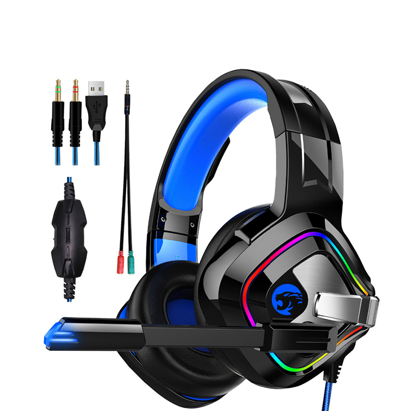 gaming headset A66 Stereo 6D Headset for Cell Phone Desktop PC Tablet and All 3.5mm Interface Devices Microphone Headphones