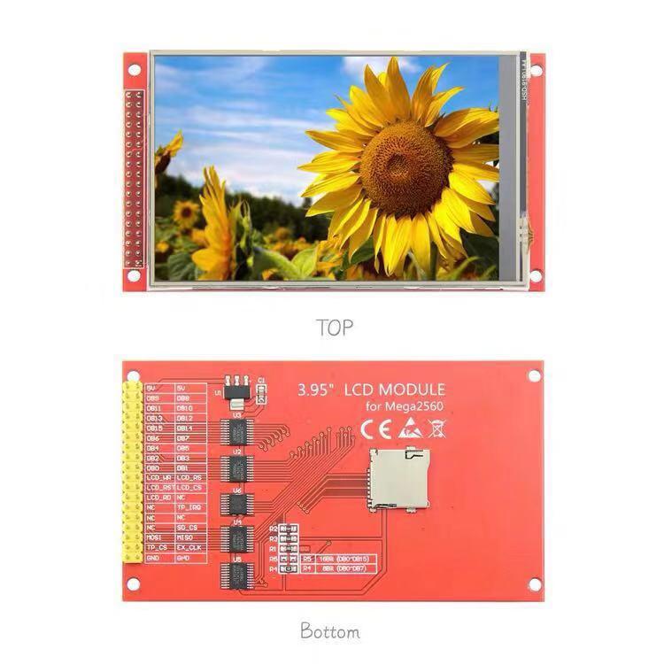 Цветной ЖК-дисплей 3,95 дюйма/4,0 дюйма 320*480 для Arduino UNO Mega2560 8/16 Bi ILI9488 / ST7796S TFT, модуль дисплея, экран с сенсорной панелью