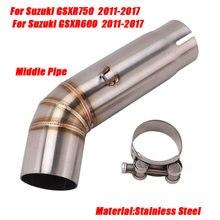Установка средней выхлопной трубы для suzuki gsxr600 gsxr750