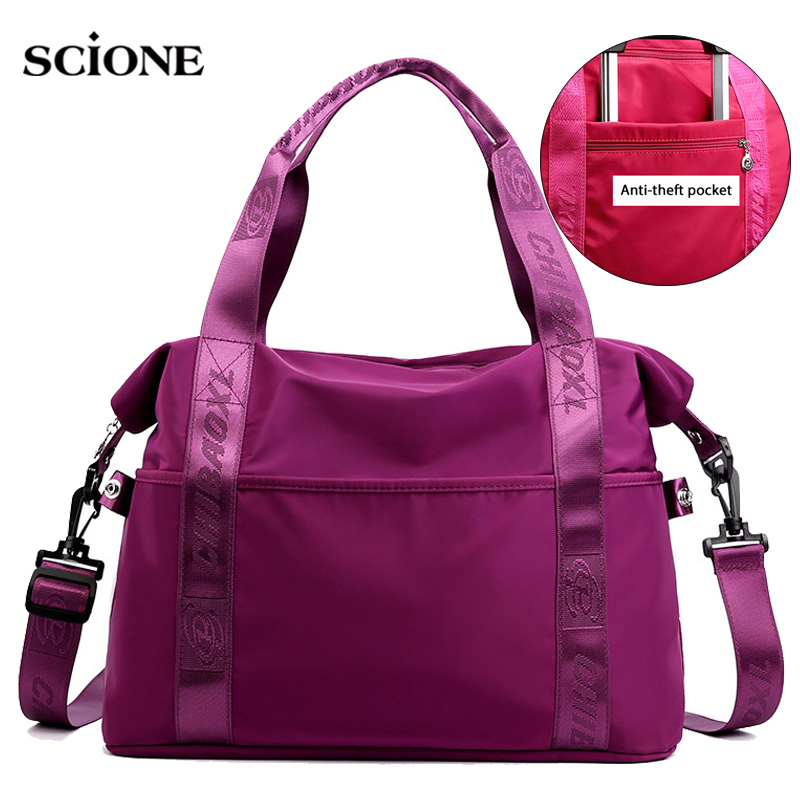 Women Gym Bags Nylon Fitness Handbag Red Training Shoulder Tote Tas Sac De Sport Outdoor Bolsa Deporte Gymtas Yoga Bags XA907WA