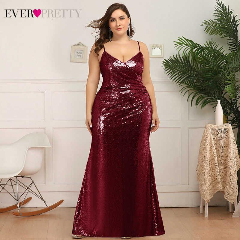 Ever-Pretty Imperio Vestido de Fiesta Noche Largo Mujer Lentejuelas Gasa A-l/ínea Elegant 00659