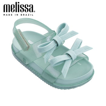Mini Melissa Girls Bow  Jelly Shoes Cosmic Sandal + Princess Boy Sandals 2020 Bow Shoes Melissa Sandals Kids Non-slip Toddler melissa girls sandals big bow parent child shoes women jelly sandals 2019 new women melissa sandals melissa jelly shoes non slip