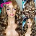Синтетические волосы на кружеве парики из натуральных волос на кружевной основе 180% бразильские волнистые волосы Синтетические волосы на к...