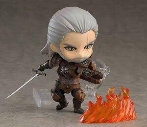 Image 4 - 10 Cm Q Witcher Ed 3 Wild Hunt 907 Geralt Sói Trắng Geralt Nhựa PVC Nhân Vật Đồ Chơi Mô Hình tặng Búp Bê