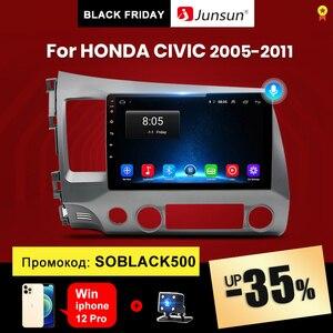 Junsun V1 2G+32G Android 10.0 DSP Car Radio Multimedia Video Player For Honda Civic 8 2005-2011 Navigation GPS No 2din 2 din dvd