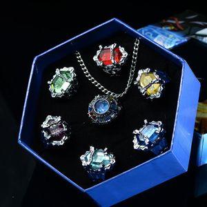 Модное Ювелирное кольцо 7 шт./компл., кольцо Katekyo Hitman Reborn Sawada Tsunayoshi, аниме, косплейные кольца, кольца вонголы, экшн-фигурки, игрушка