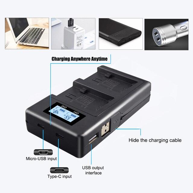 פאלו LCD USB מטען NP FV100 NP FV100 NPFV100 עבור SONY FDR AX100E AX100E HDR XR550E XR350E CX550E CX350E