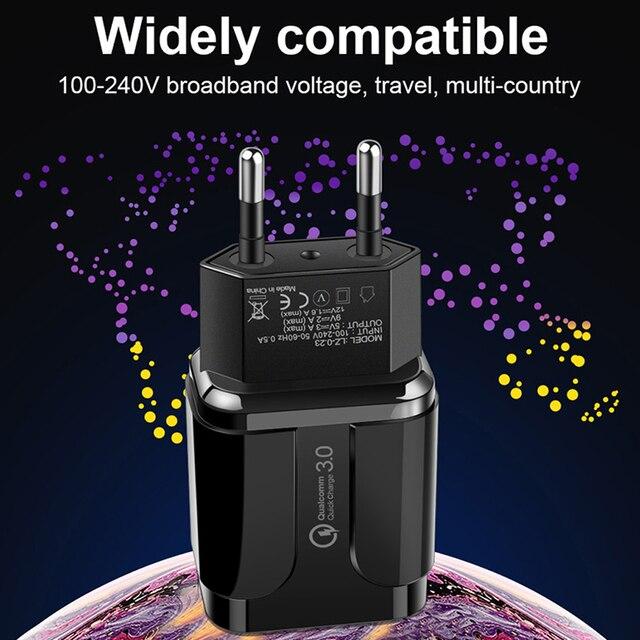 Charge rapide QC 3.0 Adaptateur Chargeur mural Pour Huawei Honor 20i 20 10i 9A 9C 9i 9S 8A 8C 8X 8S 7A 7C 6A 6C pro 3A Micro câble usb