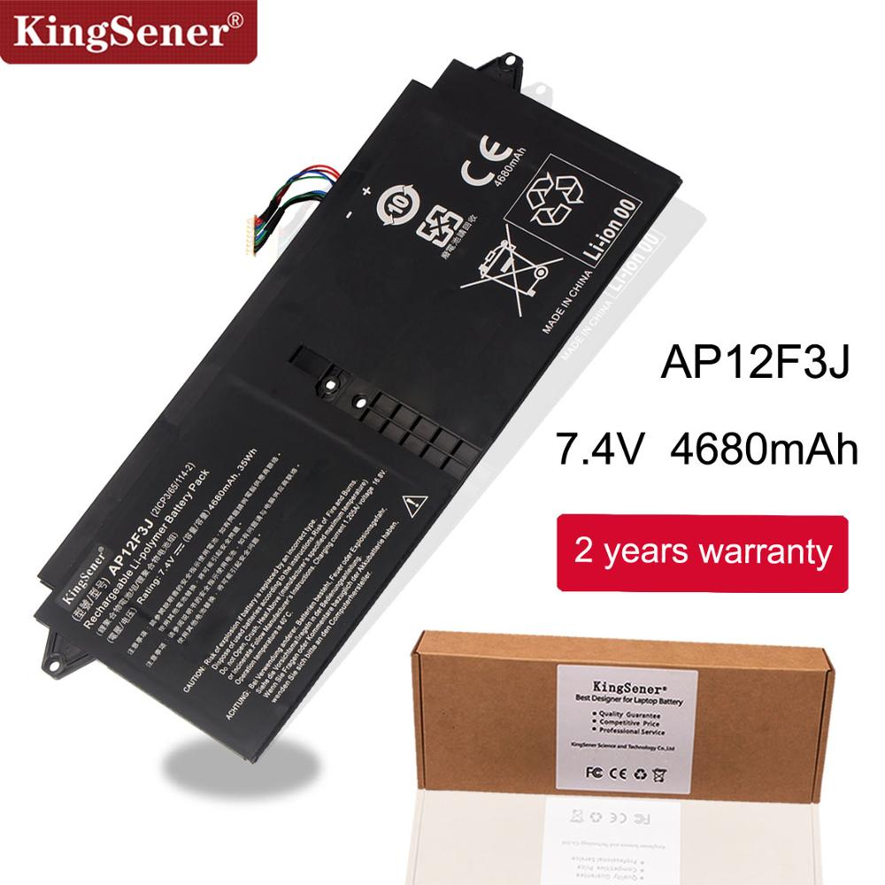"KingSener New AP12F3J  Laptop Battery For Acer Aspire 13.3"" Ultrabook S7 S7-391 2ICP3/65/114-2 AP12F3J 7.4V 4680mAh/35WH"