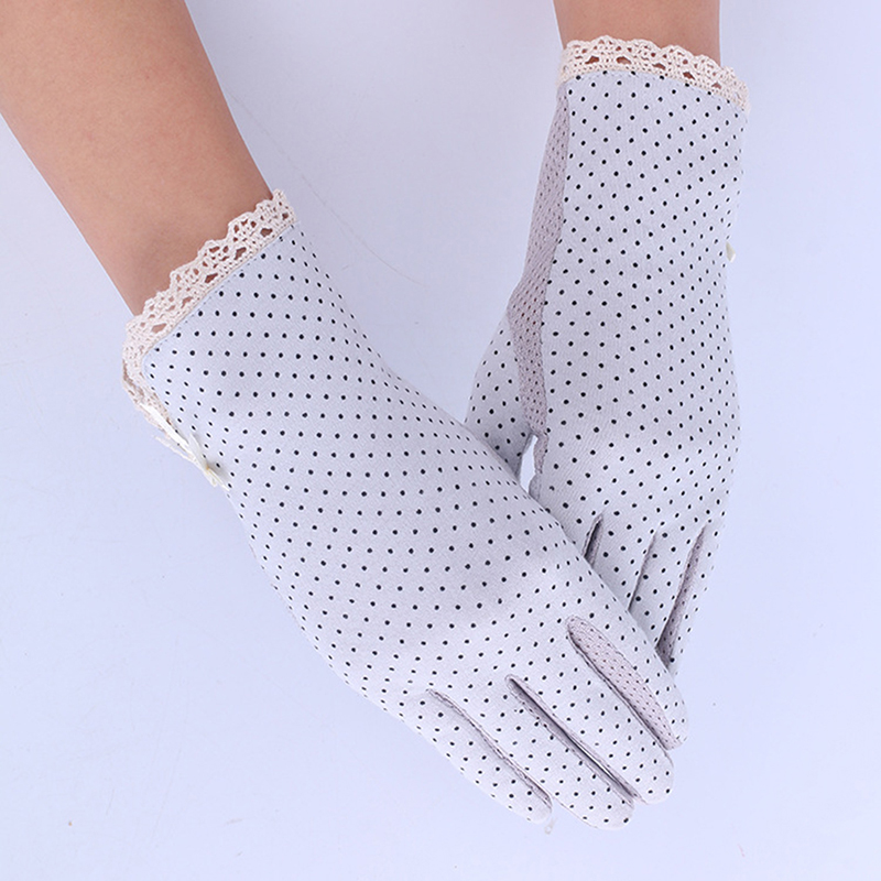 Women Sun Protection Glove New Fashion Summer/Autumn Driving Slip-resistant Sunscreen Golves For Lady