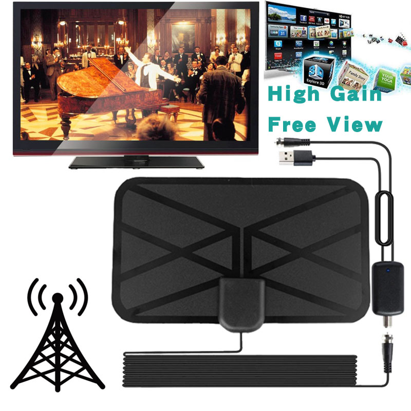Detachable Amplifier Indoor Booster 300 Mile Range HDTV Clear View Antenna TV