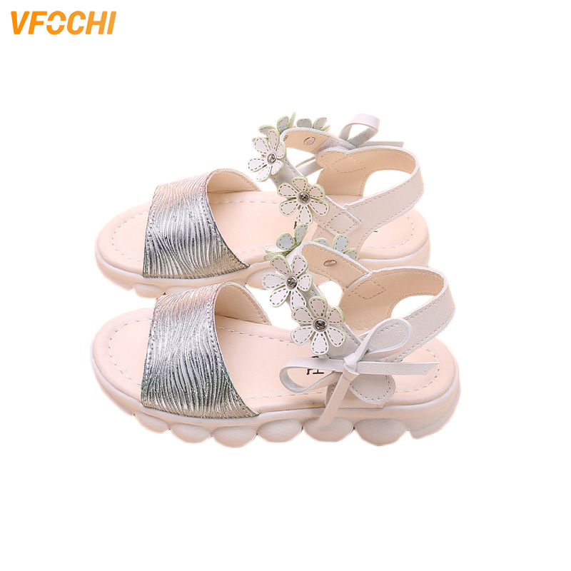 VFOCHI 2020 Summer Girl Sandals Children's Casual Party Shoes Floral Tie Princess Shoes Teenage Girls Sandals Kids Beach Shoes