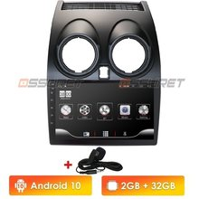 Android 10 araba radyo multimedya Video oynatıcı navigasyon GPS Nissan Qashqai için J10 2006 2007 2008 2009-2013 No 2 din DVD(China)