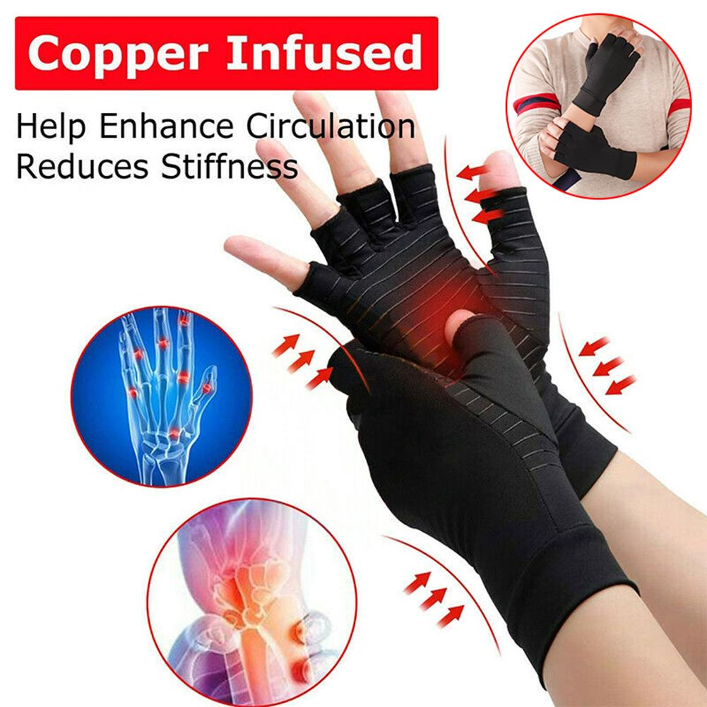 1 Pair Compression Finger Support Joint Pain Relief Arthritis Therapy Gloves Hand Waist Protects Support Hand Brace In Stock
