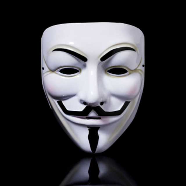 Party cos Masks V for Vendetta adult Mask Anonymous Guy Fawkes  Halloween Masks Adult Accessory Party Cosplay 2