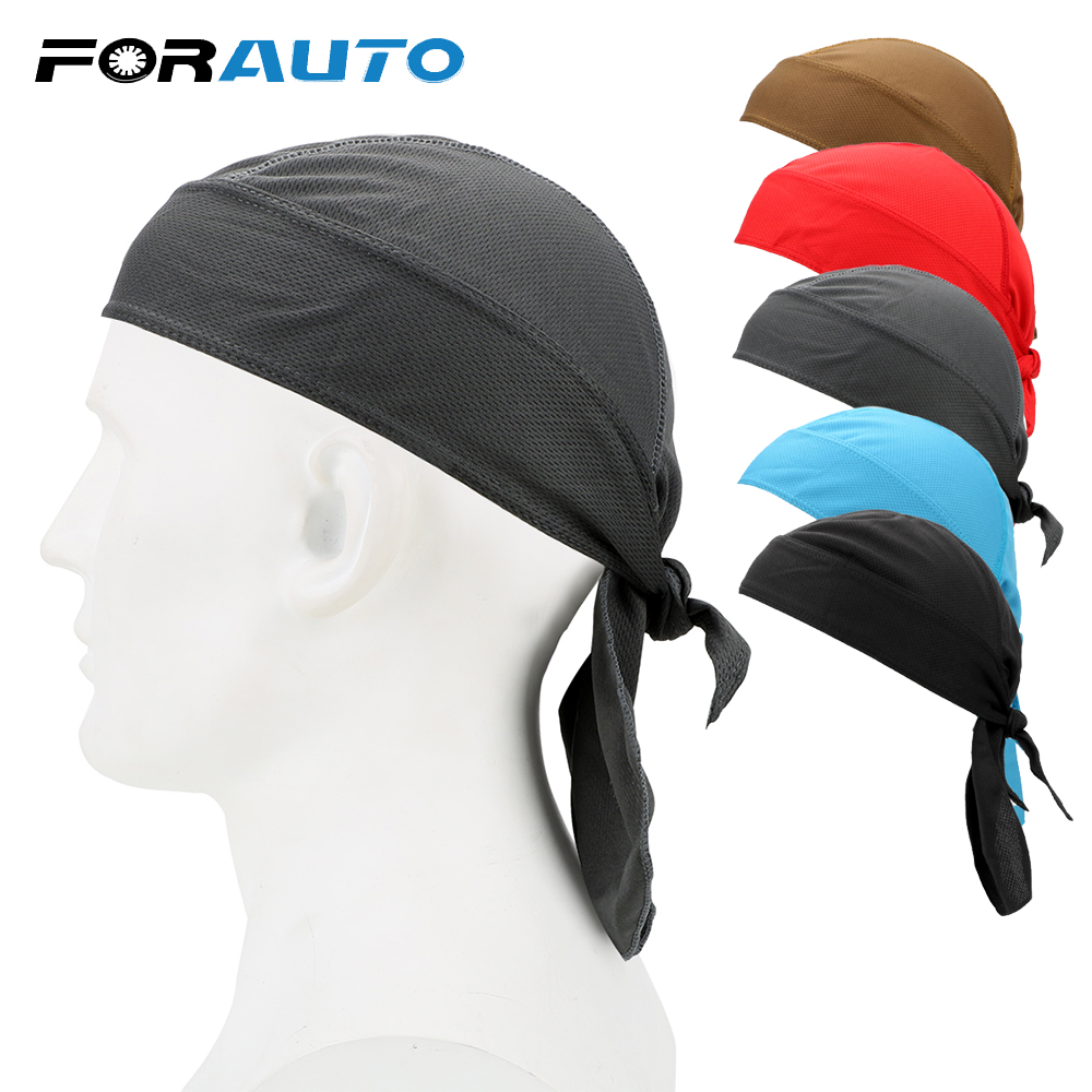 FORAUTO Moto Bike Cycling Headband Half Head Scarf Under Helmet Riding Cap Breathable Motorcycle Accessories Quick Dry