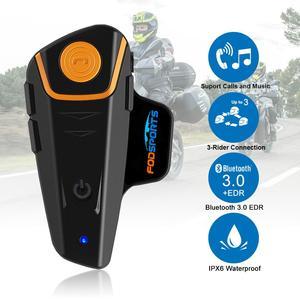 Image 3 - 2 sztuk BT S2 Pro interkom motocyklowy kask słuchawki hełmofonu motocykl domofon Bluetooth wodoodporny Radio FM domofon