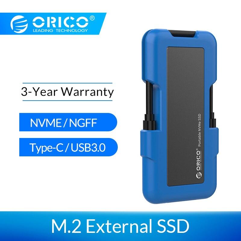 ORICO внешний SSD M.2 NVME NGFF SSD 1 ТБ SSD 128GB 256GB 512GB жесткий диск Портативный SSD твердотельный накопитель с USB 3,1 типа C