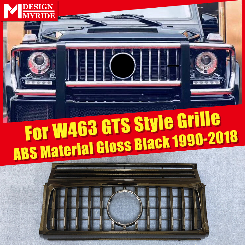 W463 GT Grills Fit For MercedesMB G Class G500 G550 Sports Front Grille Without sign 1:1 Replacement ABS Black 1990-2018